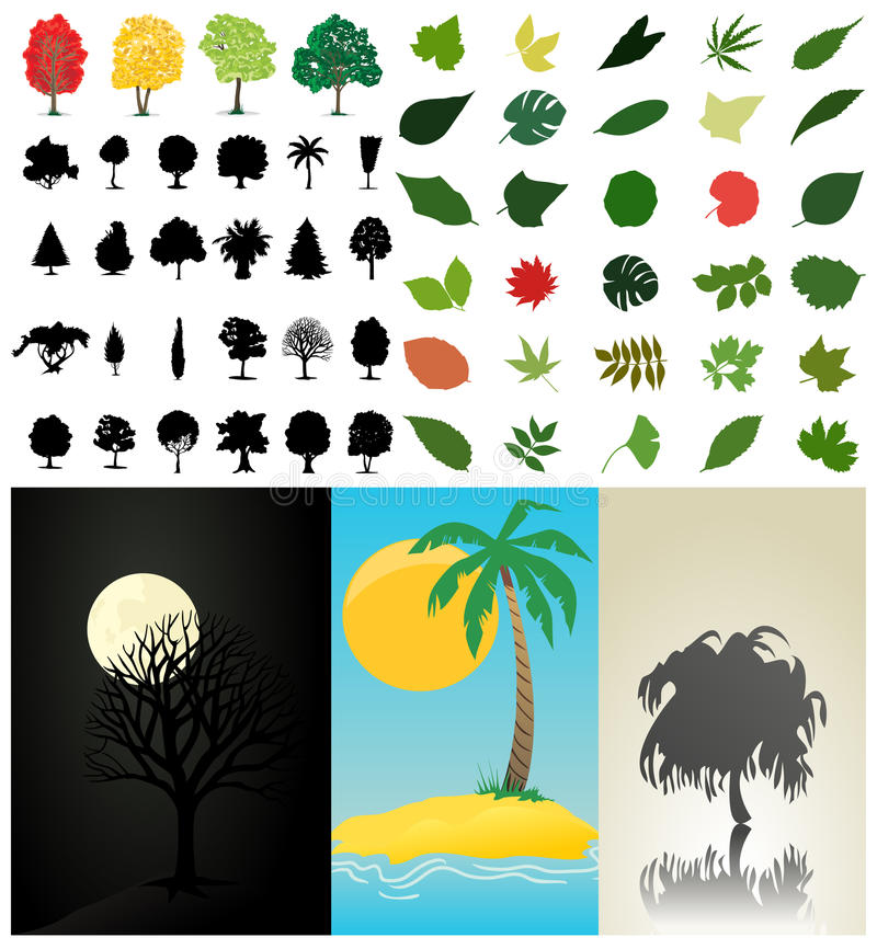 Download Assembly of trees3 stock vector. Illustration of plant - 16512893