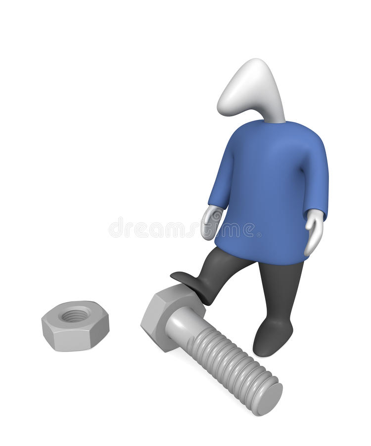 Assembly worker royalty free stock image