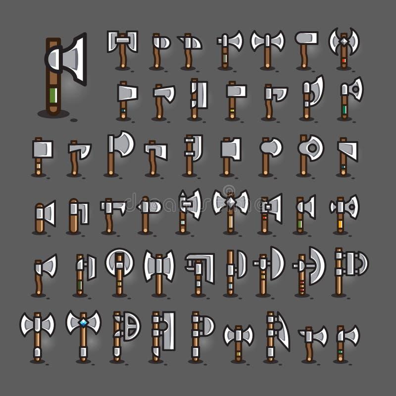 Assen voor het creëren van videospelletjes Reeks 2 stock illustratie