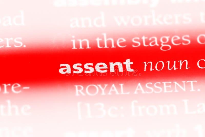 assenter стоковая фотография rf