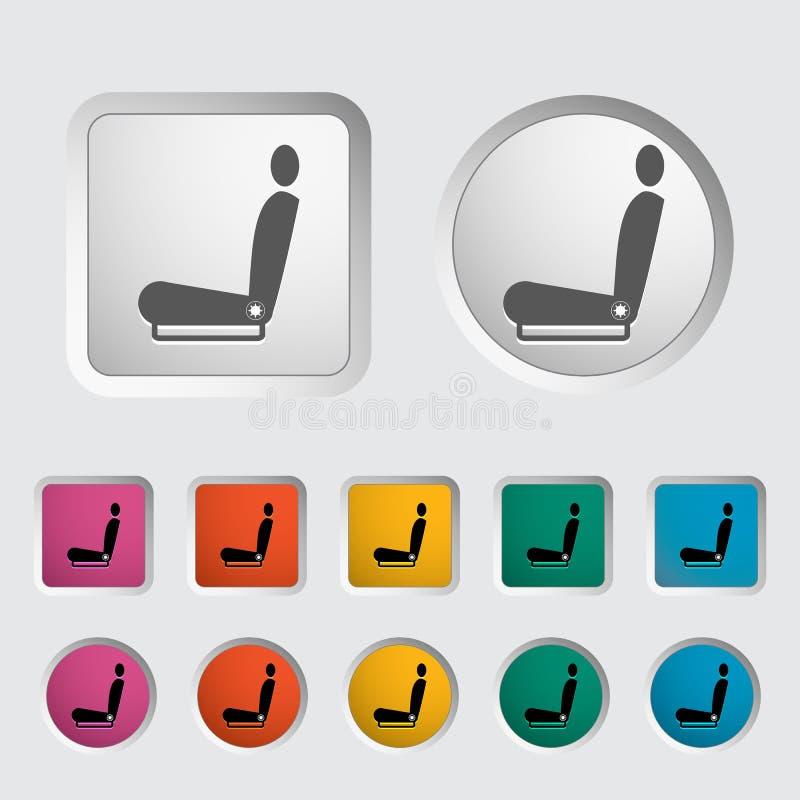 Assento caloroso do ícone ilustração stock