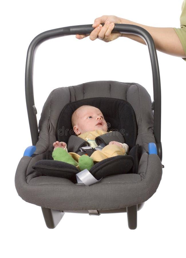 Assento de carro da criança foto de stock