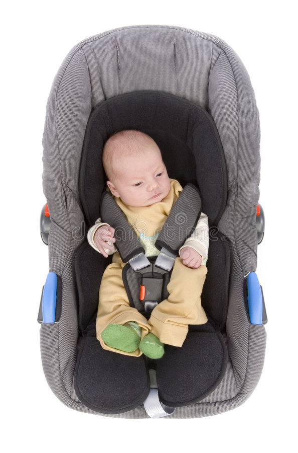 Assento de carro da criança imagens de stock