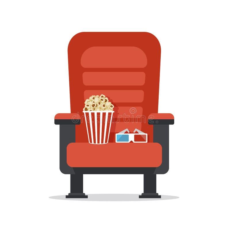 Assento do cinema, isolado no branco ilustração royalty free