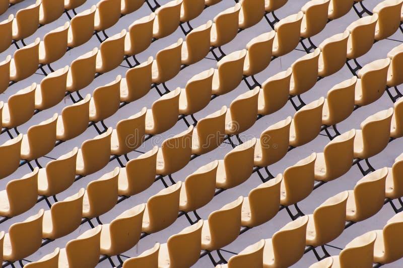 Assento do estádio fotografia de stock