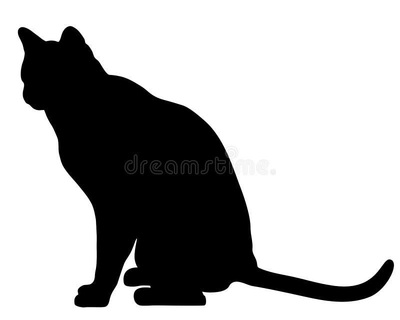 Assento do gato ilustração royalty free