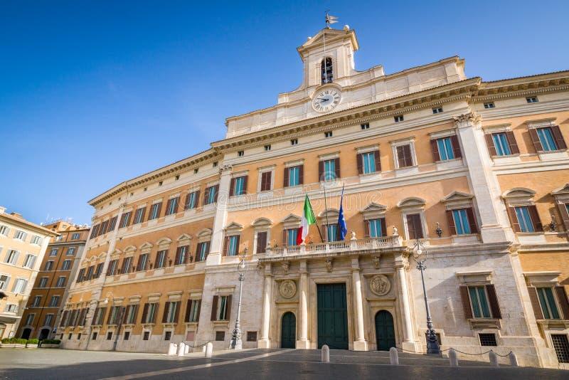 Assento do palácio de Bernini Montecitorio do parlamento italiano, Roma, Itália imagens de stock royalty free