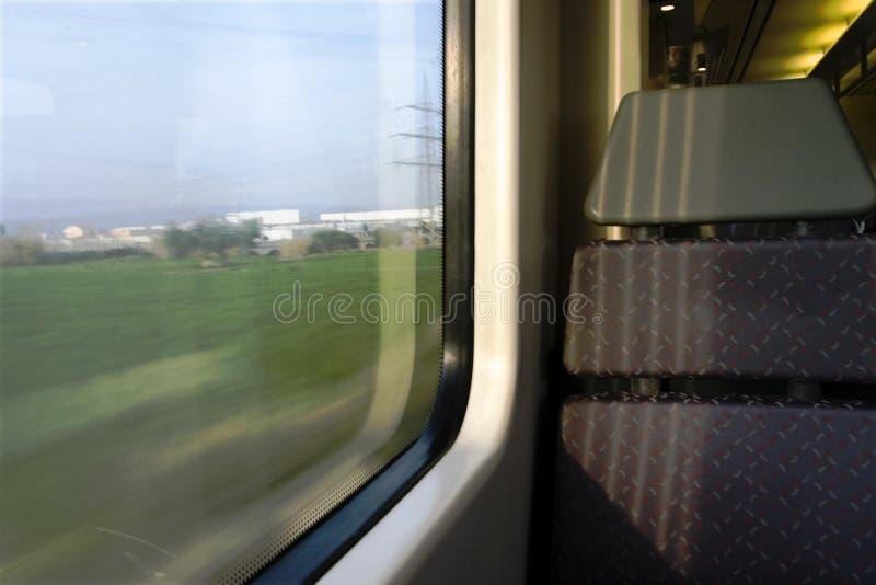 Assento do trem imagem de stock royalty free