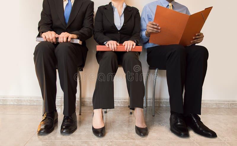 Assento dos candidatos de trabalho foto de stock royalty free