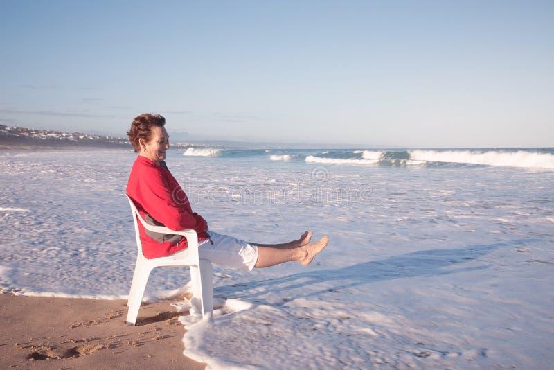 Assento nas ondas de Kleinbrak! foto de stock