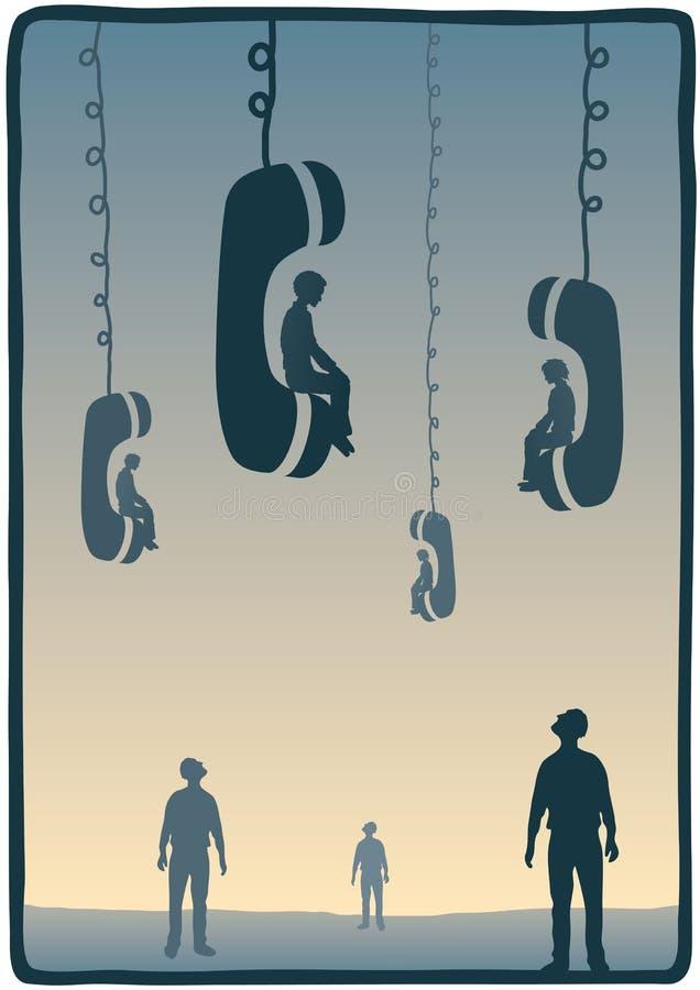 Assento no telefone ilustração royalty free