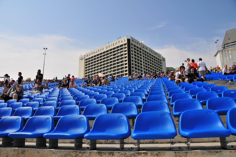 Assento para o Fórmula 1, Singapore fotos de stock royalty free