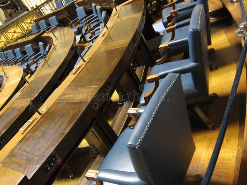Assento parlamentar fotografia de stock