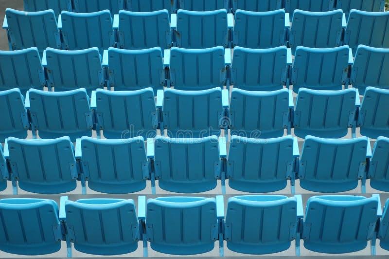 Assentos azuis imagem de stock royalty free