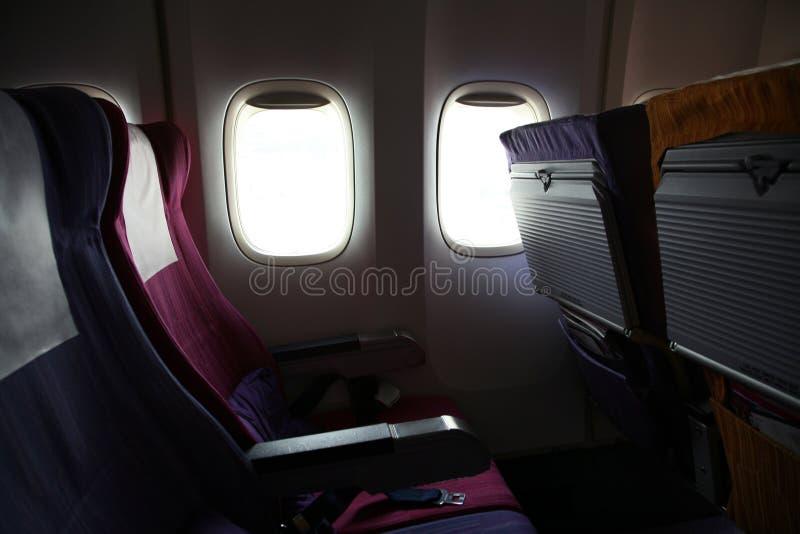 Assentos de linha aérea foto de stock