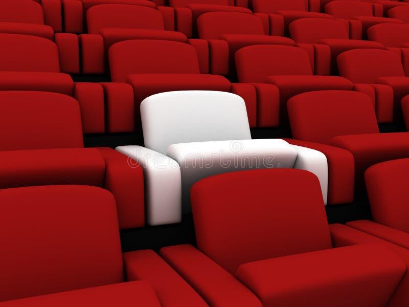 Assentos do cinema ilustração stock