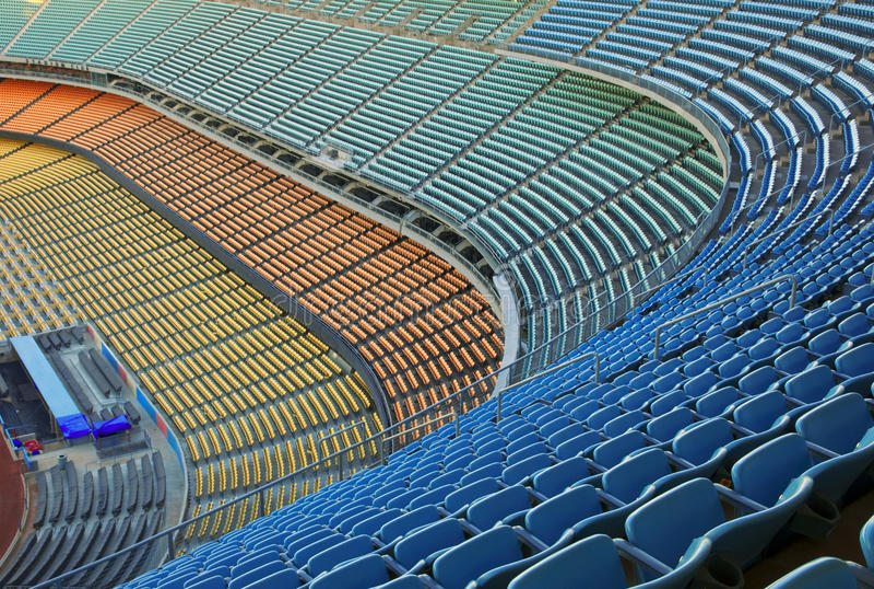 Assentos do estádio fotografia de stock royalty free