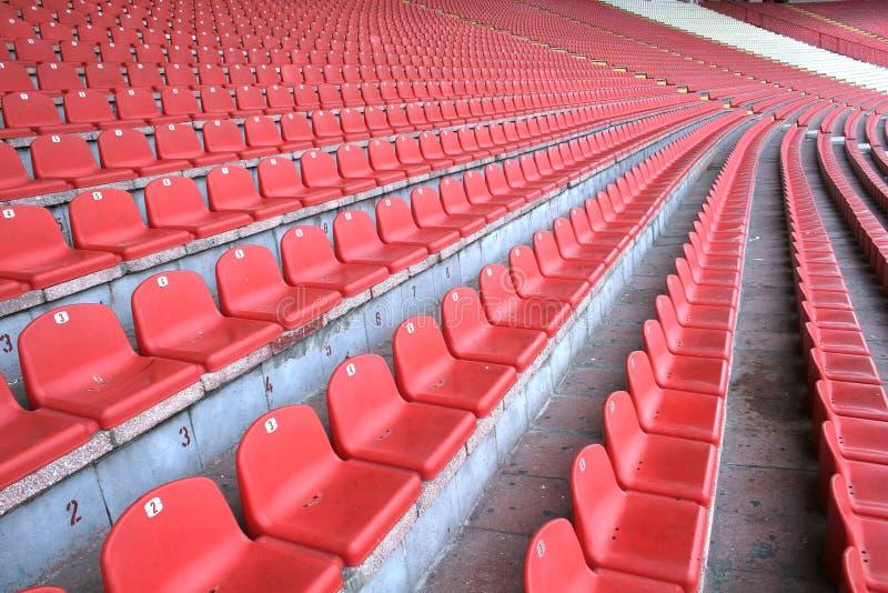 Assentos do estádio fotografia de stock