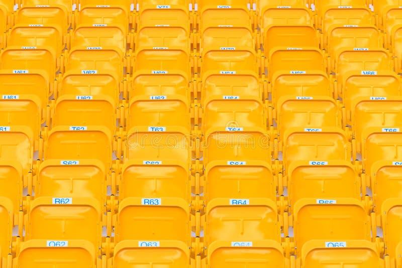 Assentos do estádio/arena imagens de stock