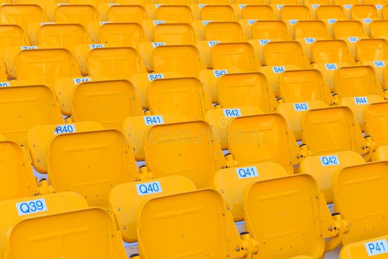 Assentos do estádio/arena foto de stock