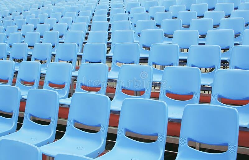 Assentos do seminário sem participantes imagens de stock royalty free
