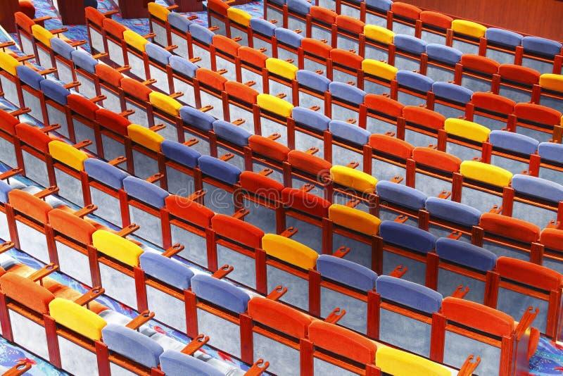Assentos do teatro imagem de stock