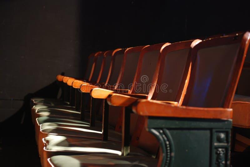 Assentos do teatro fotografia de stock