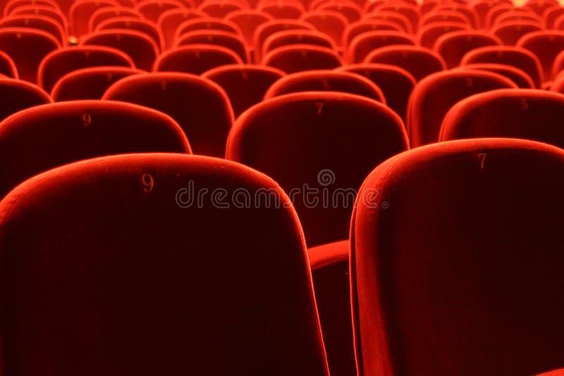 Assentos do teatro foto de stock