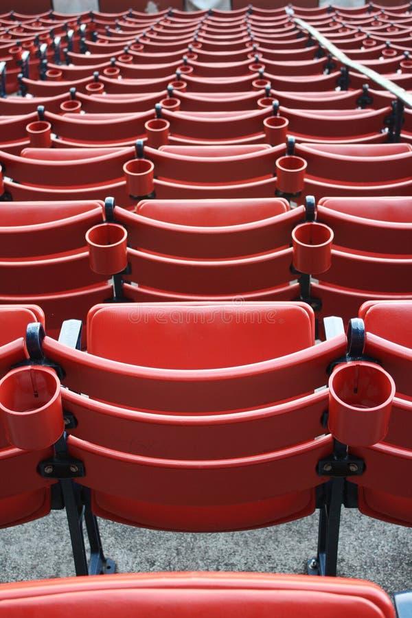 Assentos em Fenway Park fotos de stock royalty free