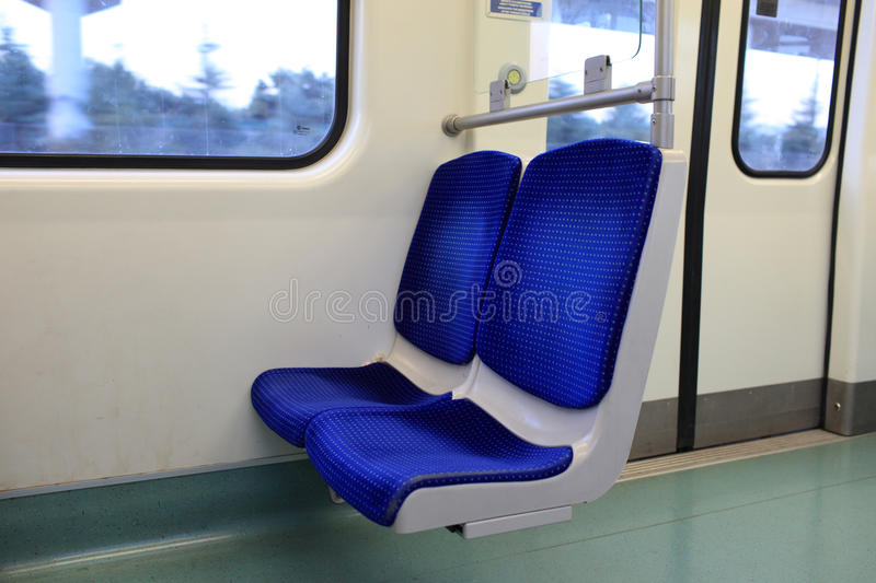 Assentos no metro foto de stock royalty free