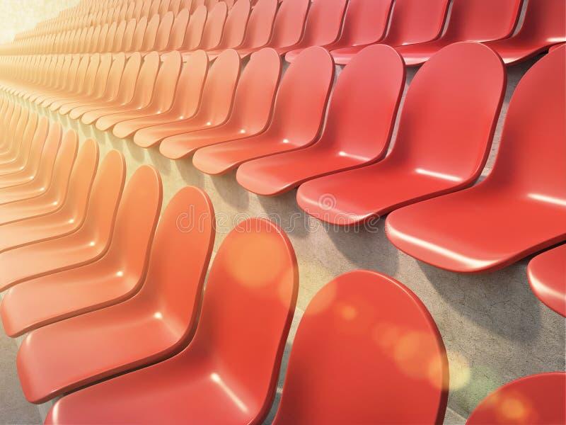 Assentos plásticos vermelhos ilustração royalty free