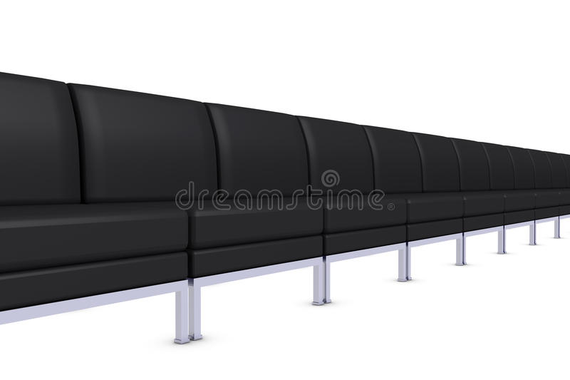 Assentos pretos ilustração stock