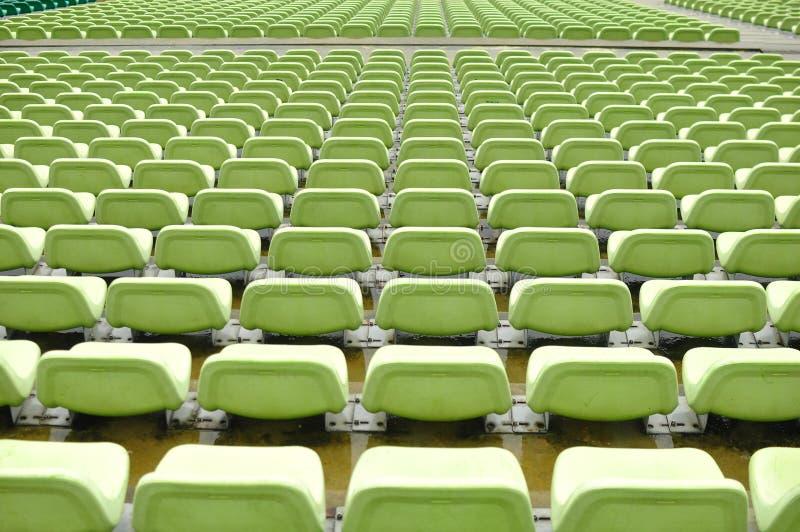 Assentos vazios do estádio do estádio do flutuador - Singapura fotografia de stock royalty free