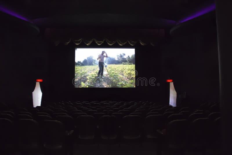 Assentos vazios num cinema fotografia de stock