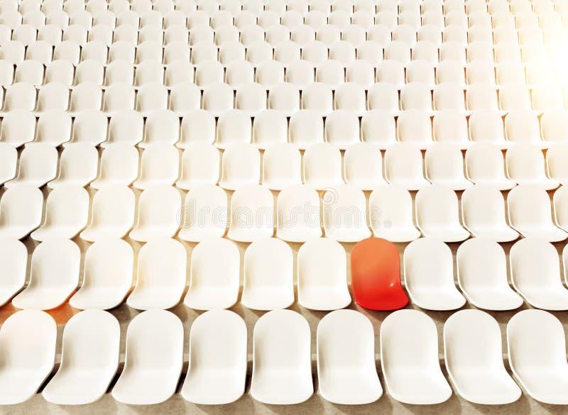 Assentos verdes do estádio ilustração do vetor