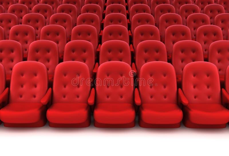 Assentos vermelhos do teatro ilustração royalty free