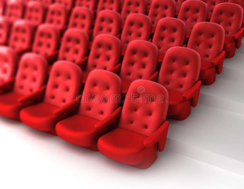 Assentos vermelhos do teatro ilustração do vetor