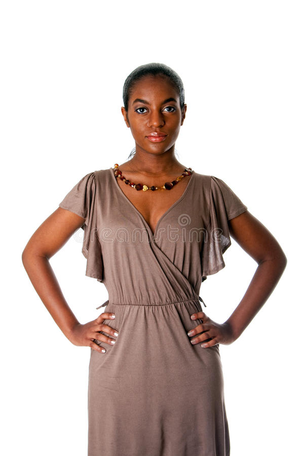 Assertive African business woman stock photos