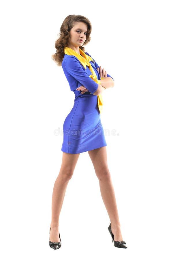 Assertive office girl stock photos
