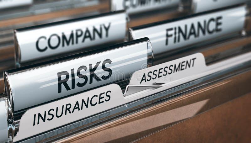 Assesment e gestão do risco da empresa seguros ilustração royalty free
