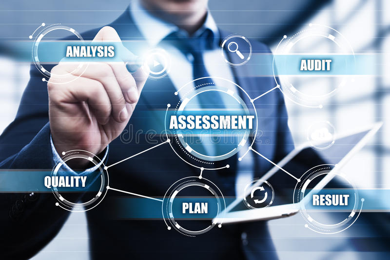 Assessment Analysis Evaluation Measure Business Analytics Technology concept stock photography