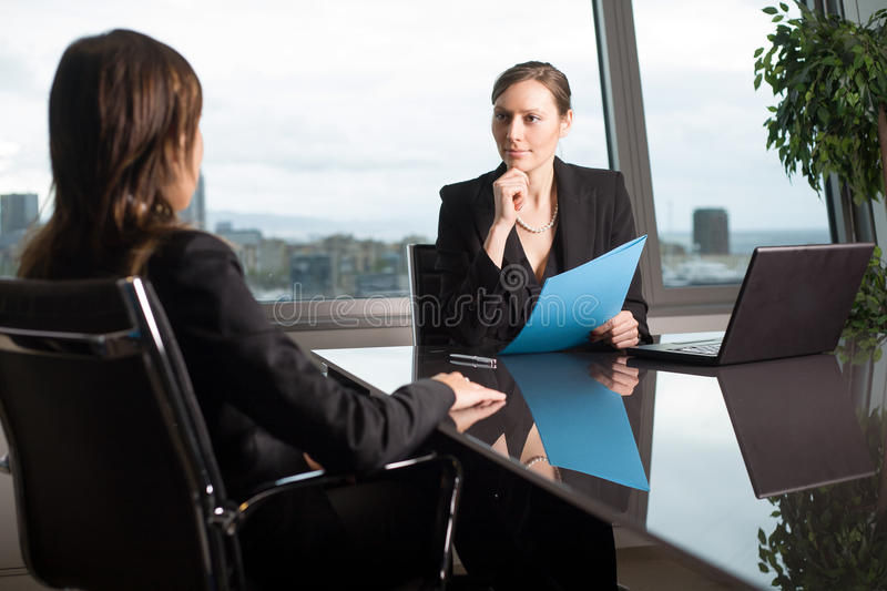 Assessment of an employee in office royalty free stock photo