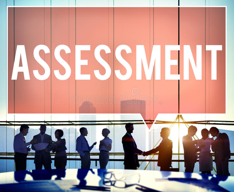 Assessment Evaluation Opinion Analysis Calculation Concept stock image