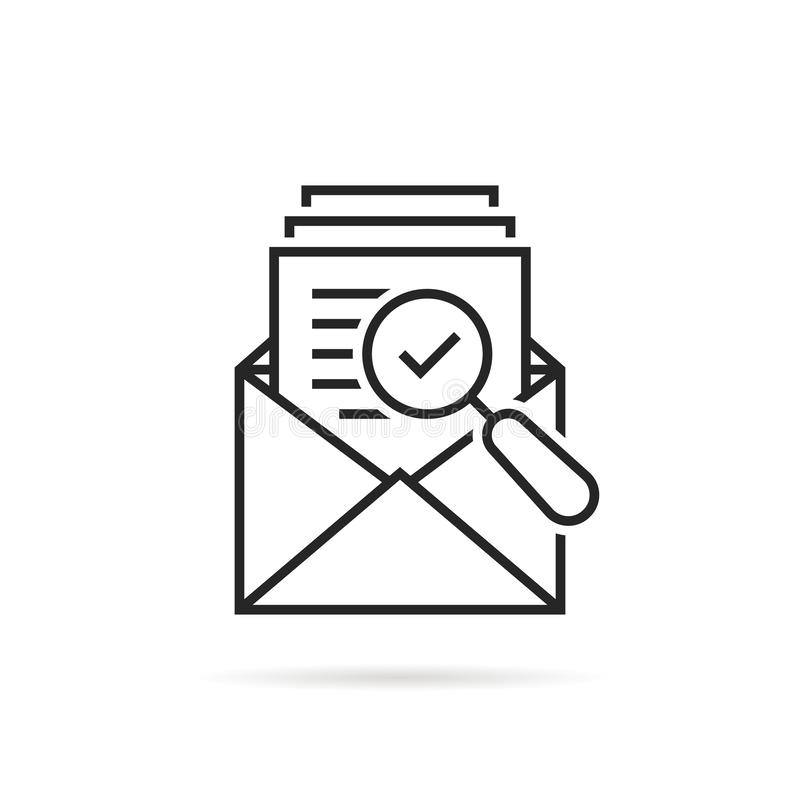 Image Result For Open When Letters For Best Friends: Review Audit Icon Vector. Overview Risk Illustration