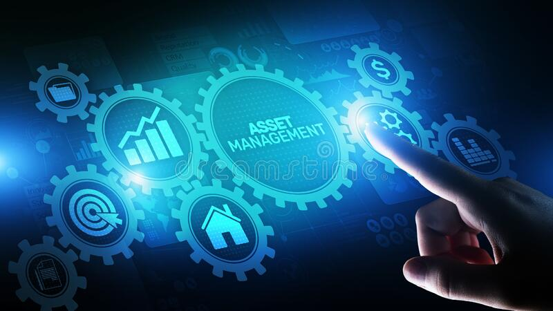 Asset management Business technology internet concept button on virtual screen. Asset management Business technology internet concept button on virtual screen royalty free stock images