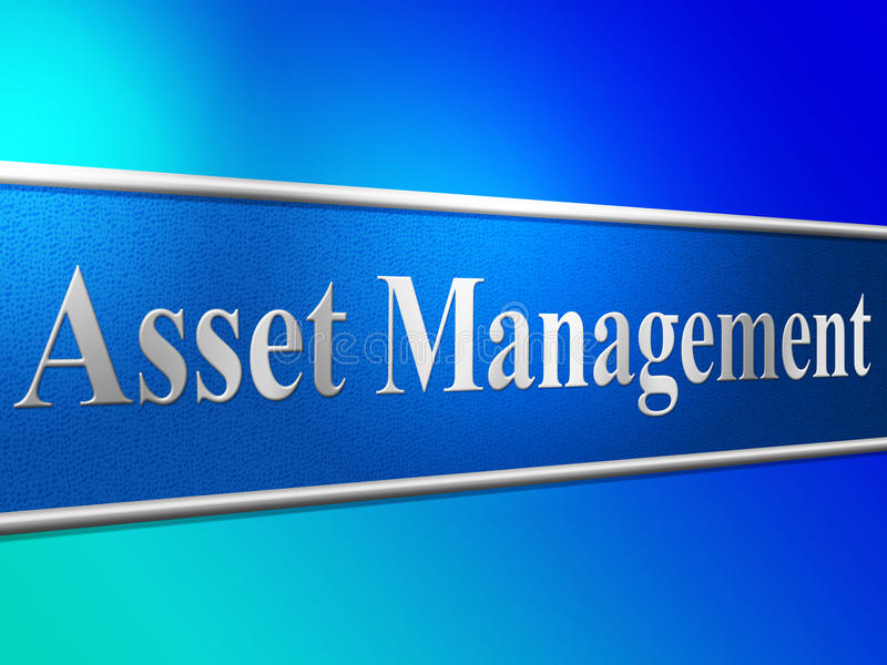 Asset Management Means Business Assets And Administration. Management Asset Indicating Business Assets And Wealth vector illustration