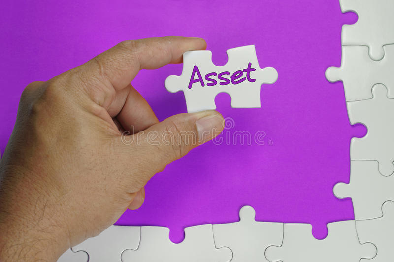 Asset Text - Business Concept. Innovative word on white puzzle - Business Concept stock photography