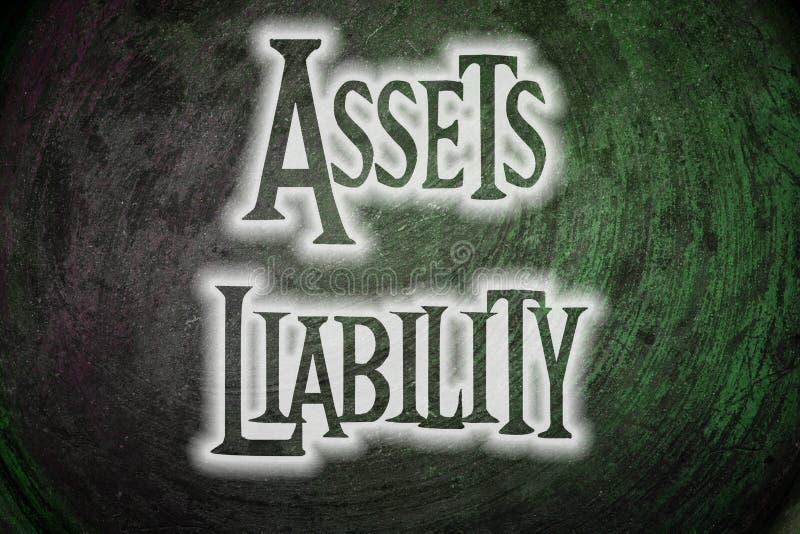 Assets Liability Concept. Text idea stock image