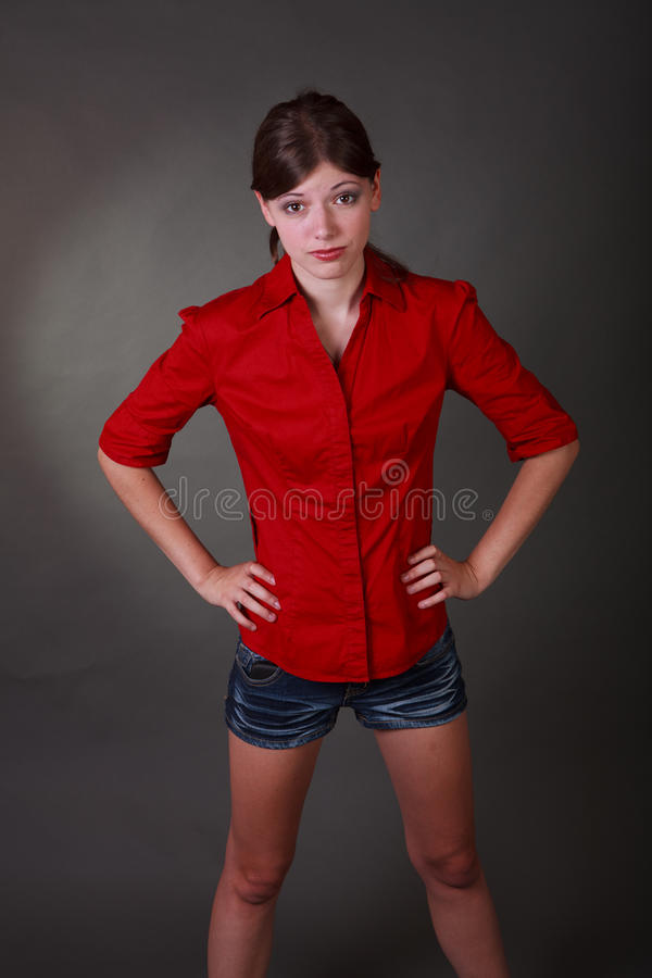 Assez en rouge photographie stock libre de droits