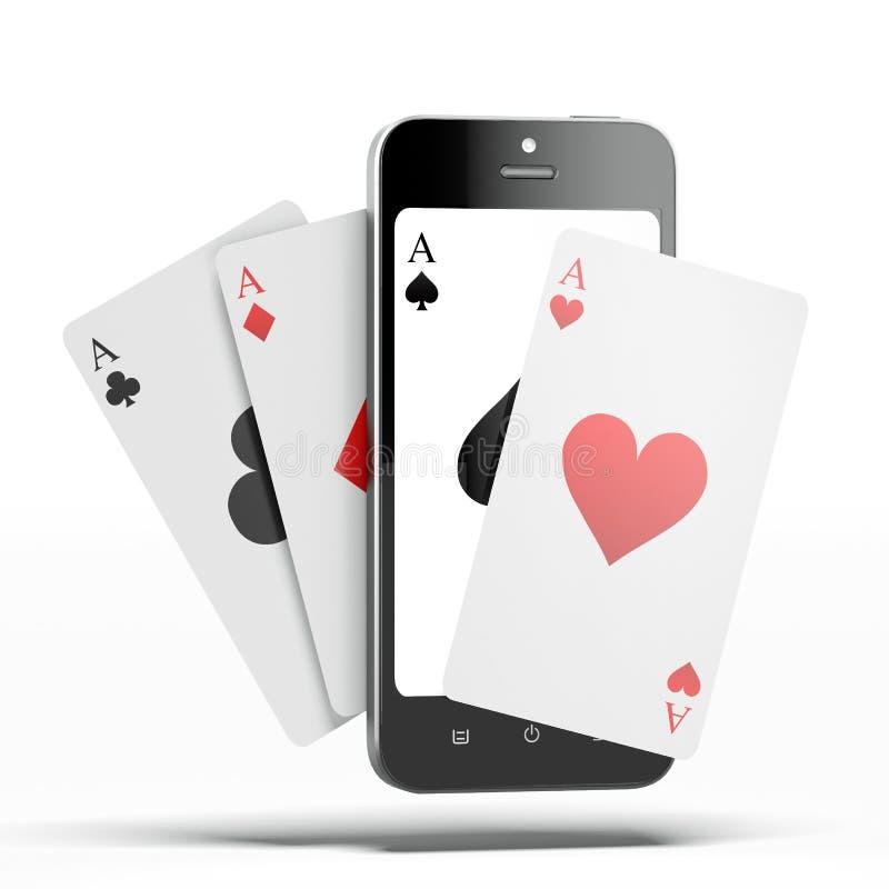 Assi con lo Smart Phone royalty illustrazione gratis